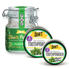 Trace Mineral Tooth Brushing Powder - The Dirt - Super Natural Personal Care Oral Care