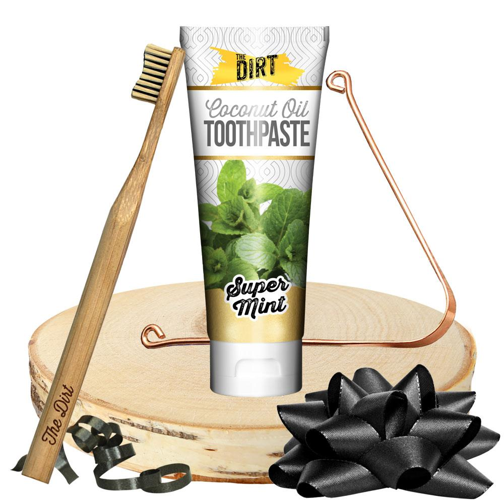 Squeaky Clean Gift Set - Toothpaste - The Dirt - Super Natural Personal Care