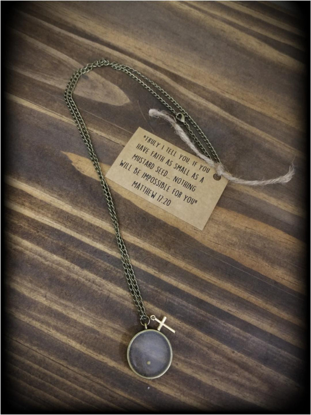 Mustard Seed Necklace, Jewelry, Faith, Inspirational