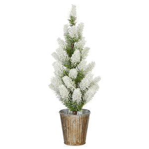 "16.5"" POTTED SNOWY TREE"