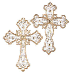 "5"" JEWELED CROSS ORNAMENT"