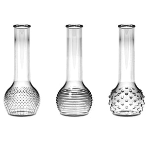 "8 1/2"" Dot-Dash Bud Vase Trio"