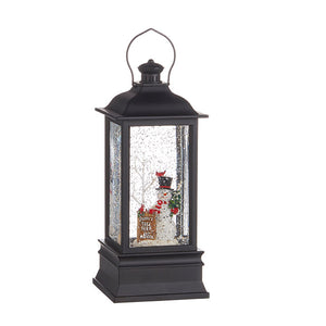 "Raz Imports 8.75"" FROSTY'S TREE FARM MUSICAL LIGHTED WATER LANTERN"