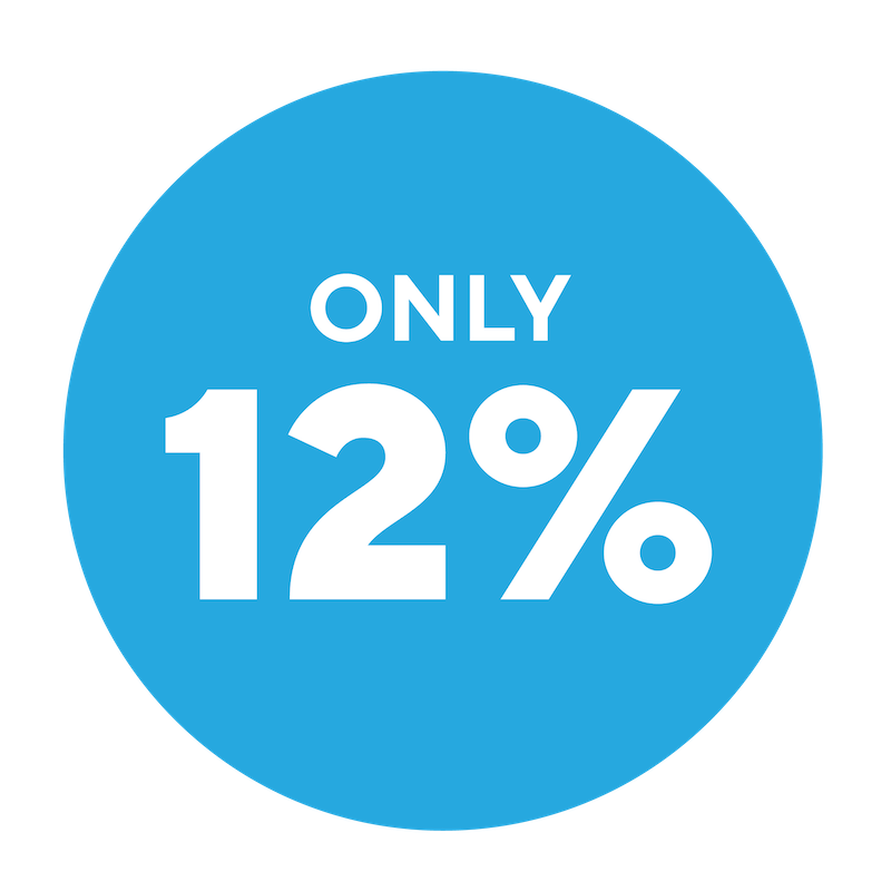 Only 12%