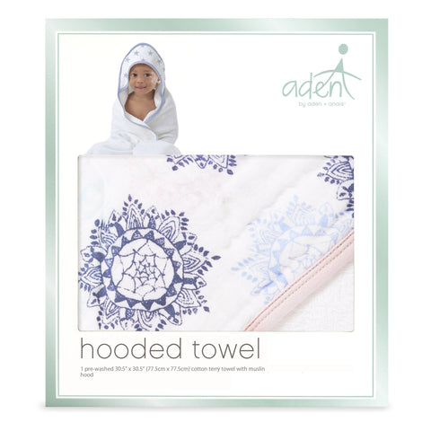 Hooded Towel Pretty Pink Medallion