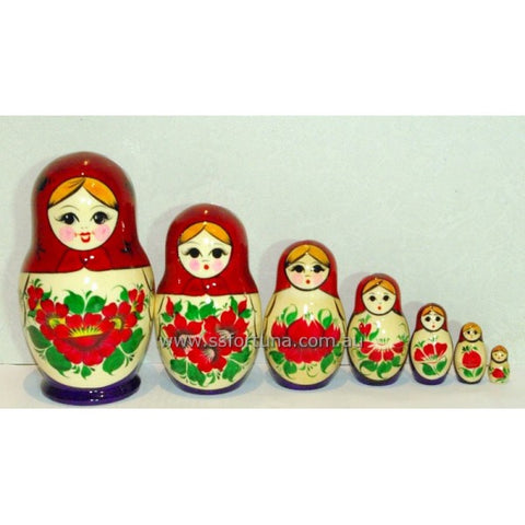 Babushka Kirov Red/Yellow Traditional 7-set
