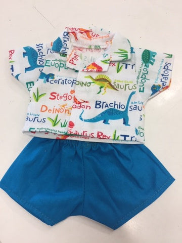 Dolls Clothes - 21cm Boys Shirt and Shorts Various
