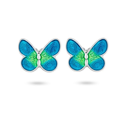 Pia & Per Earrings Butterfly - Turquoise