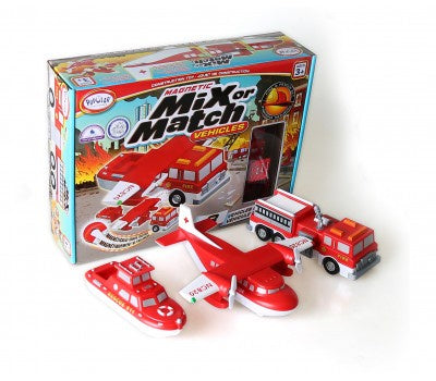 Magnetic  Mix or Match Vehicles Fire & Rescue
