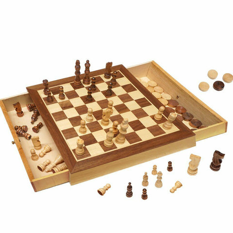 Deluxe Chess & Checkers Set