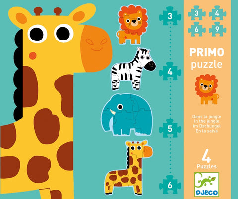Djeco Primo In the Jungle 4 Puzzles