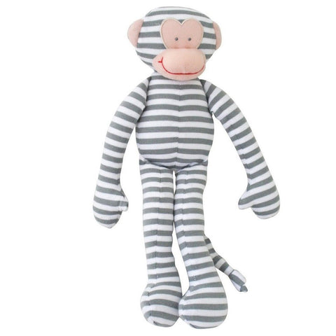 Alimrose Monkey Rattle - Grey Stripe