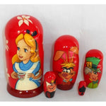 Babushka Alice in Wonderland 5 Pcs Small