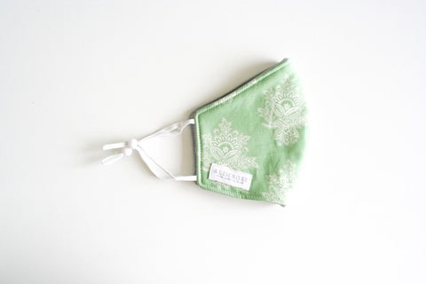 Alimrose Face Mask Adult  - Green Paisley