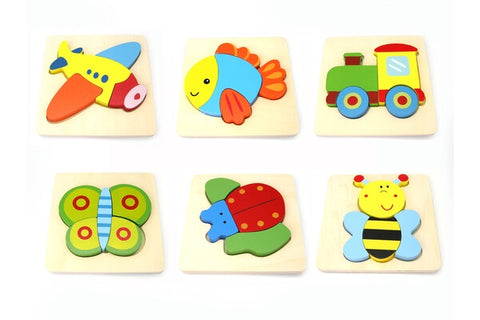 Wooden Chunky Puzzle Assorted