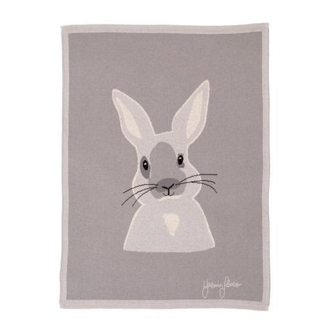 Blanket Knitted Reversible Bunny
