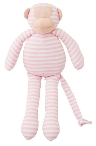 Alimrose Musical Monkey - Pink Stripe