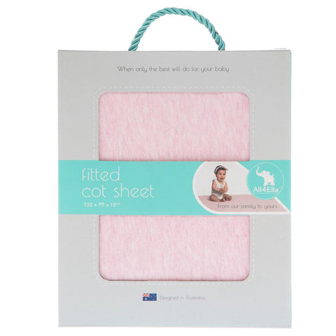 Cot Fitted Sheet Marle Pink
