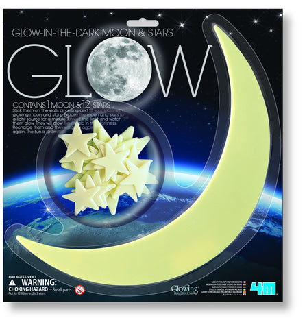 4M Glow in the Dark Moon & Stars
