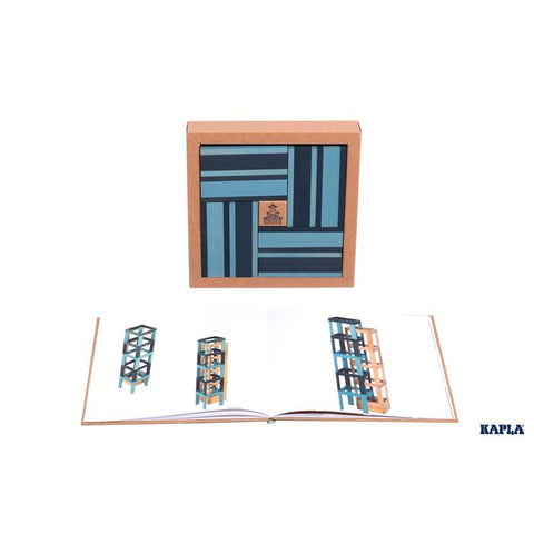 Kapla Book and Colours Blue 40 Pcs