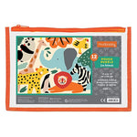 Pouch Puzzle 12pc Zoo Animals