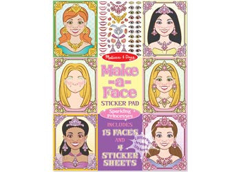 Melissa & Doug Make a Face Sticker Pad  Sparkling Princess