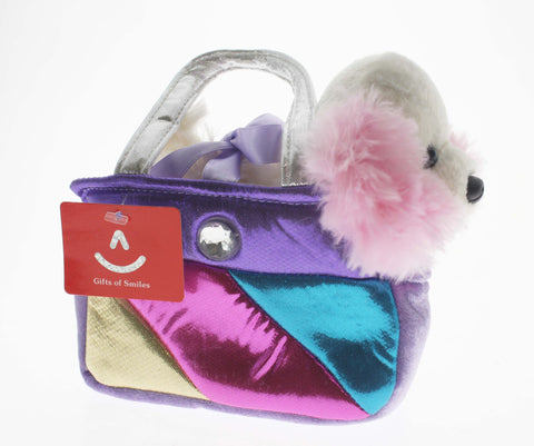 Fancy Pals Cocker Spaniel in Square Rainbow Bag