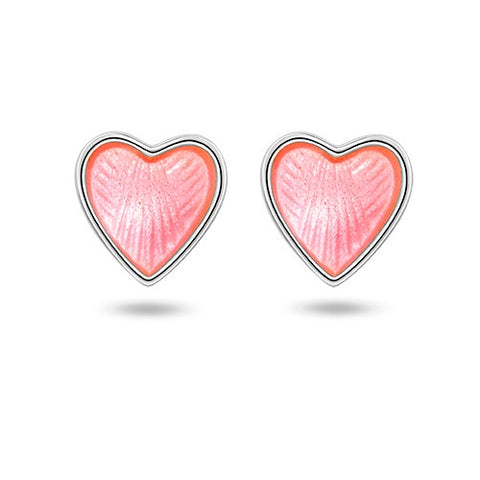 Pia & Per Earrings Heart - Pink