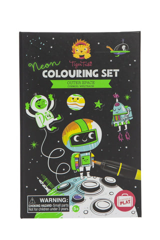 Tiger Tribe Neon Colouring Set - Outer Space