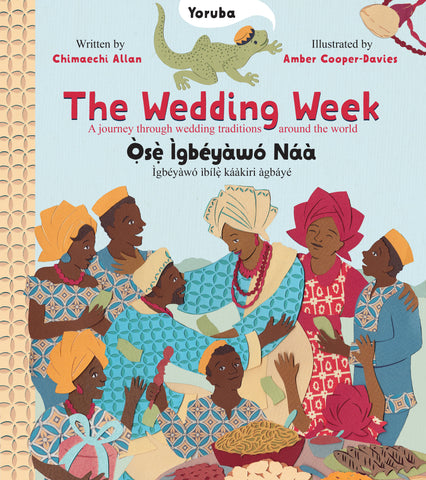 Nigerian Yoruba wedding in The Wedding Week by Chimaechi Allan illustrated in collage