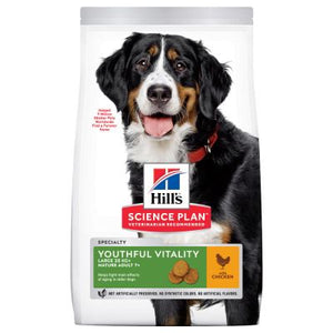 Hill's Science Plan Canine Mature Adult 6+ Youthful Vitality Large Breed au Poulet et au Riz (12 kg) - Oscar and Kitty