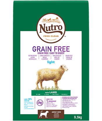 Nutro - Croquettes Light Grain Free pour Chiens Adultes à l'Agneau (9,5 kg) - Oscar and Kitty