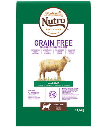 Nutro - Croquettes Grain Free pour Grands Chiens Adultes à l'Agneau (14,5 kg) - Oscar and Kitty