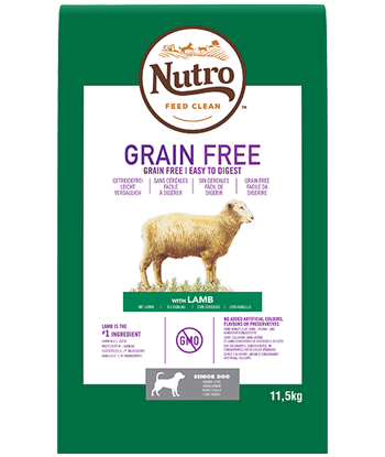 Nutro - Croquettes Grain Free pour Chiens Seniors à l'Agneau (11,5 kg) - Oscar and Kitty