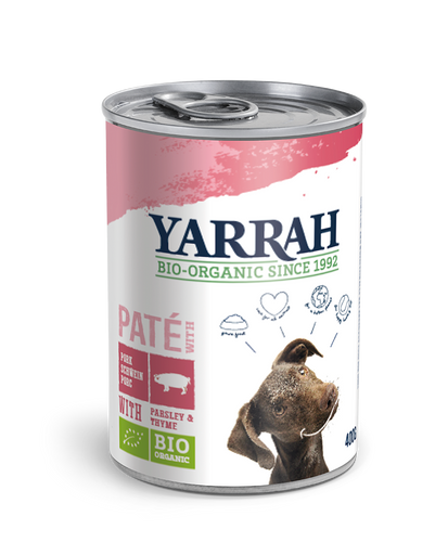 Yarrah - pâté biologique au porc - (24 x 400 gr ) - Oscar and Kitty