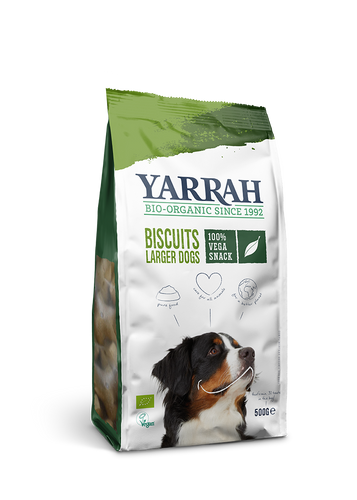 Yarrah - Biscuits vegan pour grands chiens (8 x 500 gr) - Oscar and Kitty