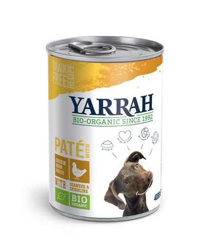 Yarrah - pâté biologique au poulet - (24 x 400 gr) - Oscar and Kitty
