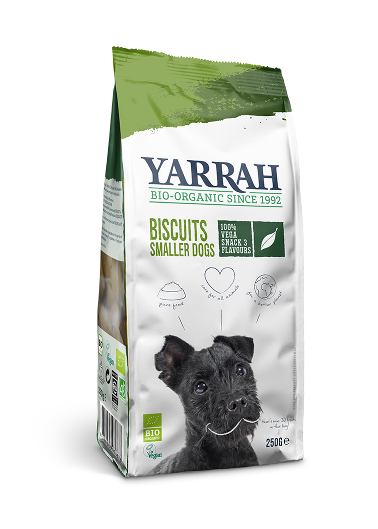 Yarrah - Biscuits vegan pour petits chiens (12 x 250 gr) - Oscar and Kitty