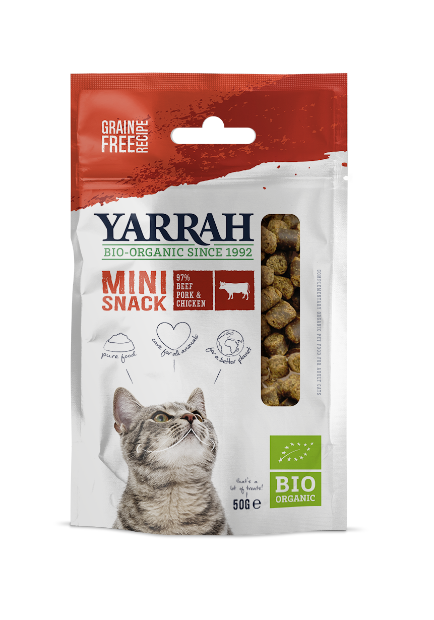 Yarrah - Mini snack biologique pour chat 50g x 10 - Oscar and Kitty