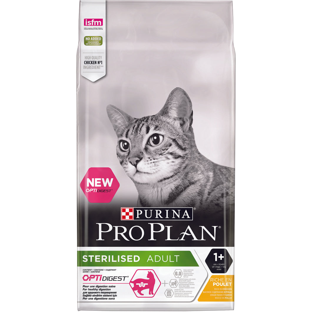 Pro Plan Sterilised Poulet - 10kg - Oscar and Kitty