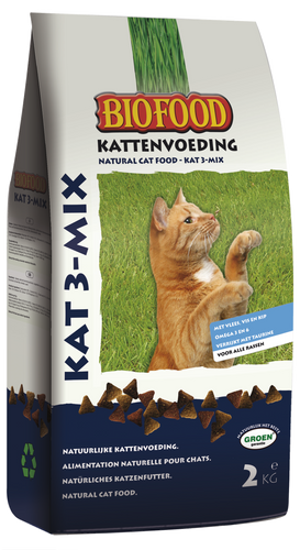 Biofood - Chat 3-Mix Croquettes - 6 x 2kg - Oscar and Kitty