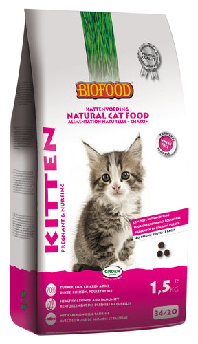 Biofood Kitten - 4 x 1,5kg - Oscar and Kitty
