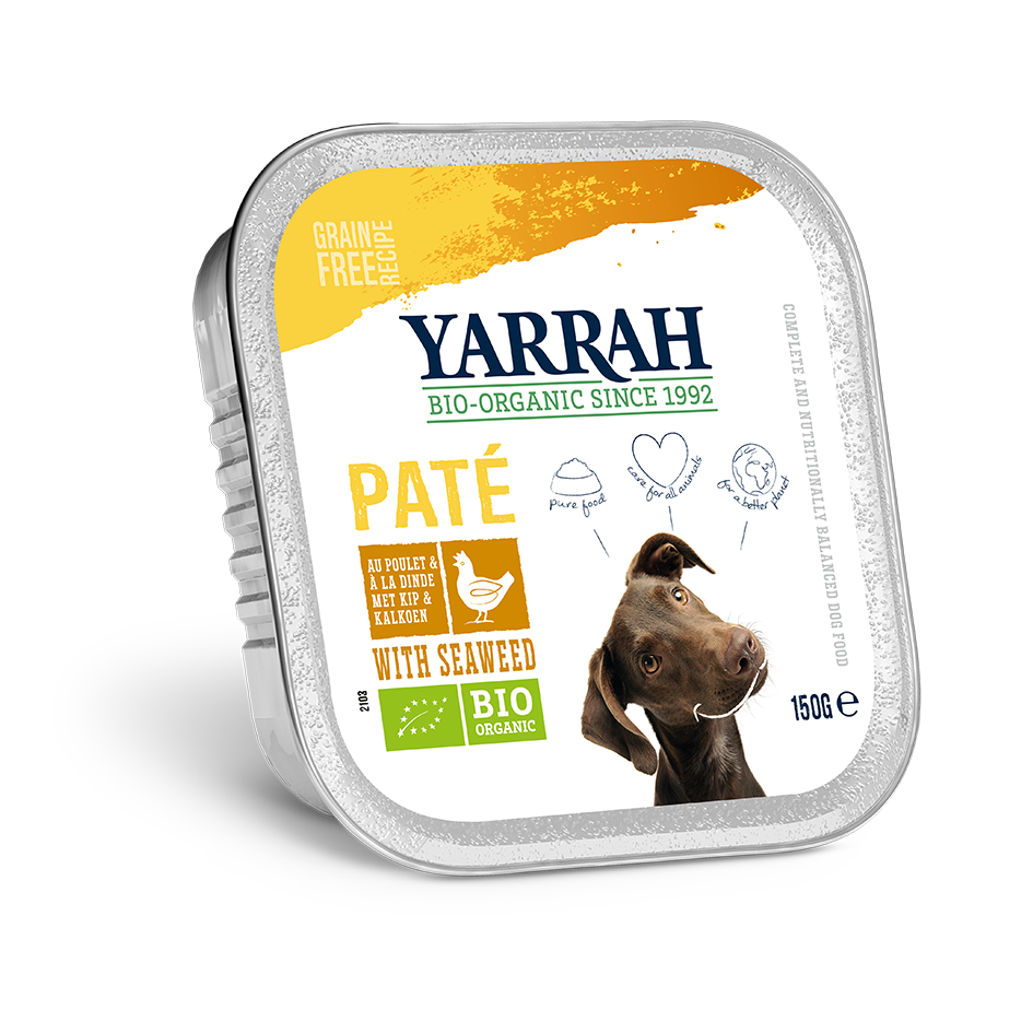 Yarrah - pâté biologique au poulet - (24 x 150 gr) - Oscar and Kitty