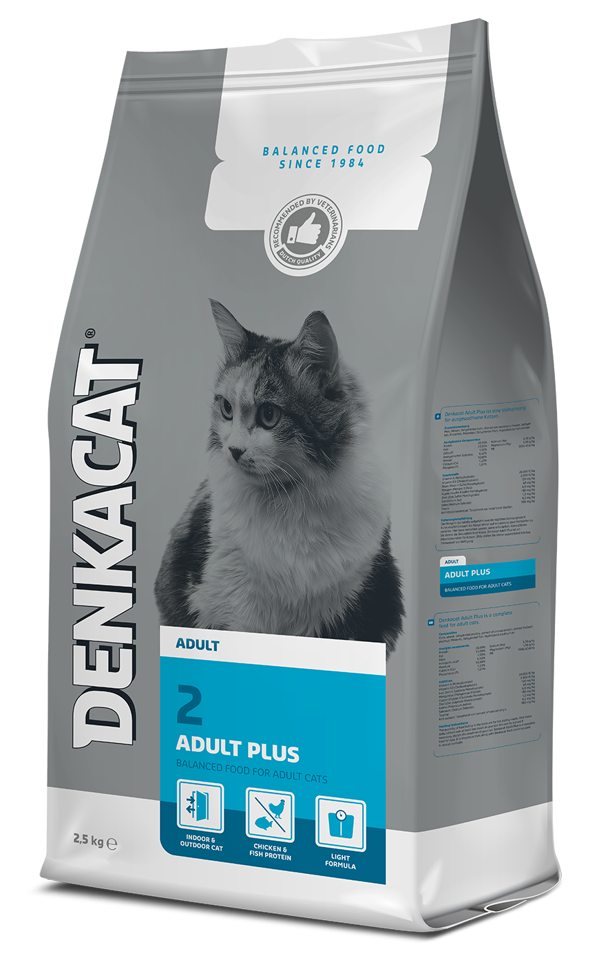 Denkacat Adult Plus - 4 x 2,5 kg - Oscar and Kitty