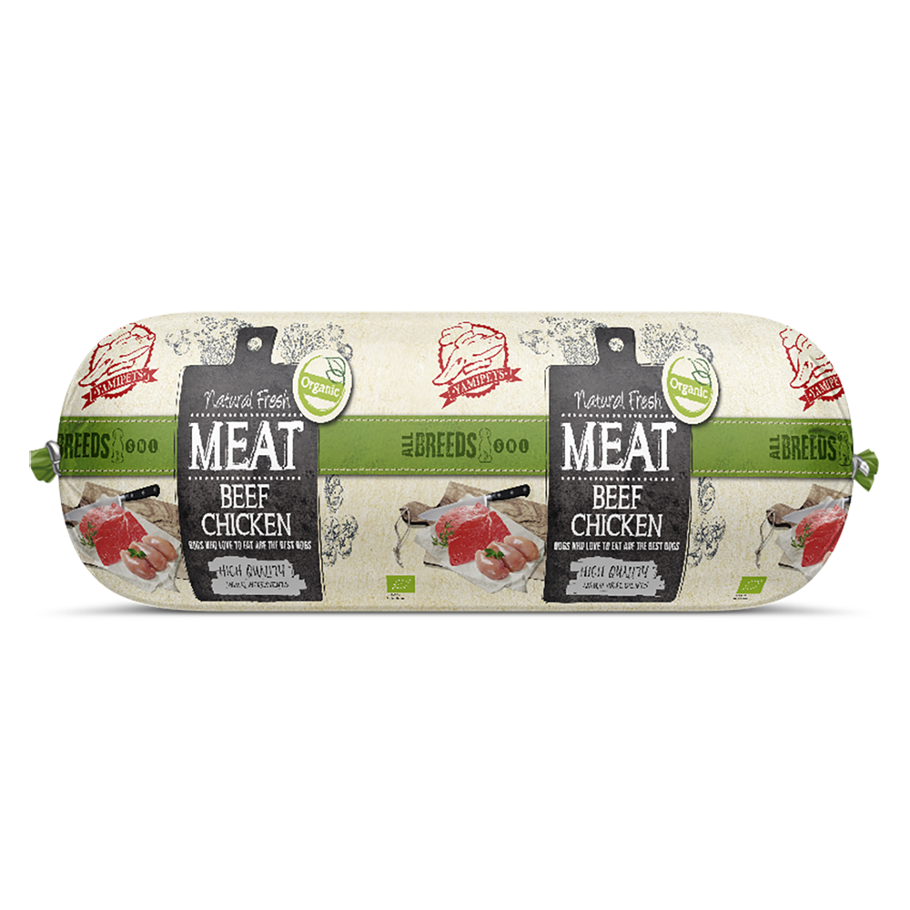 Natural Fresh Meat Bio - Saucisses Boeuf - Poulet 12 x 600 g - Oscar and Kitty