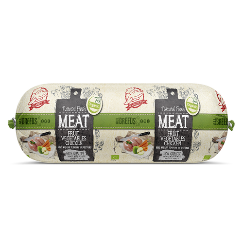 Natural Fresh Meat Bio - Saucisses Fruits-Légumes-Poulet 12 x 600 g - Oscar and Kitty