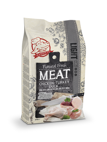 Natural Fresh Meat - Croquettes Light pour Chien Senior 12 kg - Oscar and Kitty