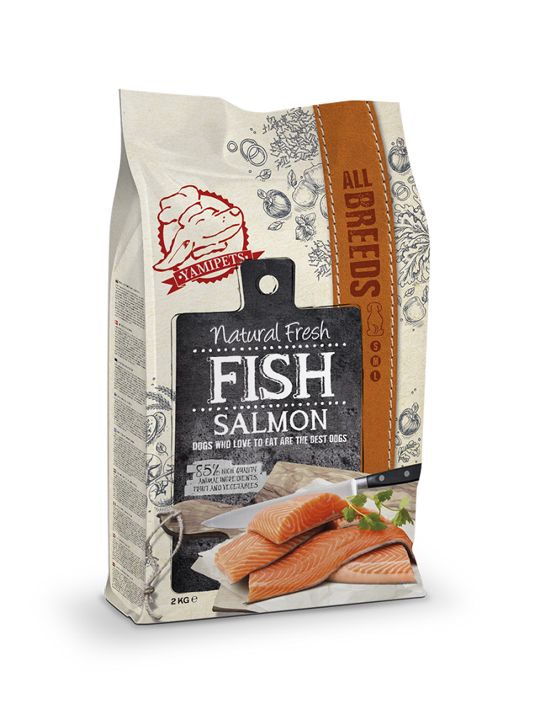 Natural Fresh Fish - Croquettes au Saumon 12 kg - Oscar and Kitty