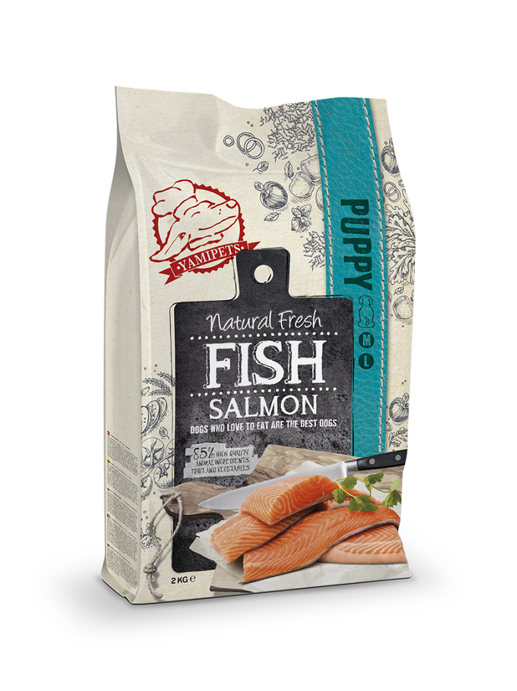 Natural Fresh Fish - Croquettes pour Chiot au Saumon 2 x 2 kg - Oscar and Kitty