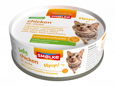 Smølke - pâté moelleux poulet- 24 x 80g - Oscar and Kitty